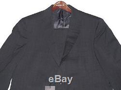 $1,595 Ralph Lauren Mens Italy Polo 1 Slim Custom Fit Striped Wool 2 Button Suit