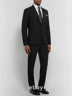 $1,695 PAUL SMITH SOHO FIT 2-Button Wool & Mohair Black Suit 44R