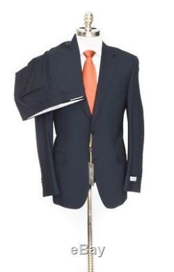 $1,995 NWT CANALI 1934 Solid Black All-Season Wool Slim Fit 2Btn Suit 52 42 R