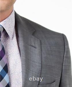 $1025 Hugo Boss Mens Slim Fit Wool Sport Coat Gray Suit Jacket Blazer Size 38s