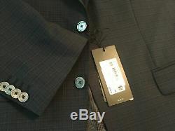 $1095 Hugo Boss Hutson / Gander Slim Fit Suit 44R / 38W Navy Blue Super 120s