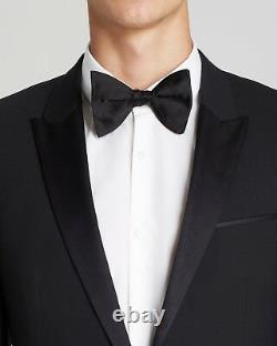 $1095 Hugo Boss Men'S Slim Fit Suit Black Tuxedo Sport Coat Jacket Blazer 40l