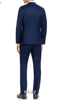 $1095 Paul Smith Soho Wool & Cashmere Tailored Fit Suit Navy Blue 42/52 R
