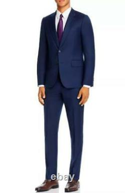 $1095 Paul Smith Soho Wool & Cashmere Tailored Fit Suit Navy Blue 46/56 R
