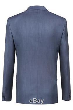 $1125 HUGO BOSS Men's SLIM Fit Wool Sport Coat BLUE SUIT JACKET BLAZER 36R