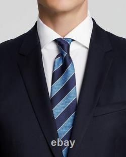 $1130 Hugo Boss Men's Slim Fit Wool Sport Coat Blue Suit Jacket Blazer 38S