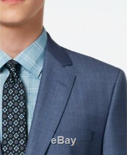 $1133 HUGO BOSS Men's SLIM FIT BLUE SOLID SUIT JACKET SPORT COAT BLAZER 48R