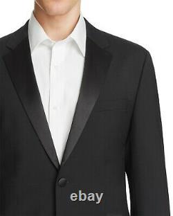 $1145 Hugo Boss Men 46r Slim Fit Wool Sport Coat Black Suit Jacket Blazer Tuxedo