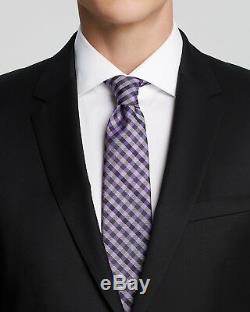 $1145 Hugo Boss Mens Slim Fit Wool Sport Coat Black Suit Jacket Blazer 42r
