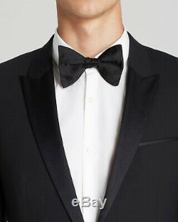 $1159 Hugo Boss Men 40r Slim Fit Wool Sport Coat Black Suit Jacket Blazer Tuxedo