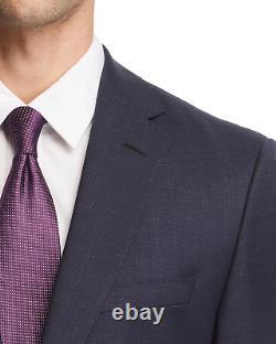 $1175 Hugo Boss Men's 38S Slim Fit Wool Sport Coat Blue Check Suit Jacket Blazer