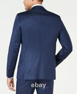 $1175 Hugo Boss Mens 36S Slim Fit Wool Sport Coat Stripe Blue Suit Jacket Blazer