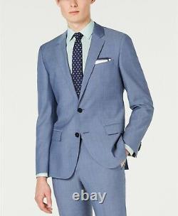 $1185 Hugo Boss Men'S 38r Blue Slim Fit Wool Sport Coat Suit Jacket Blazer