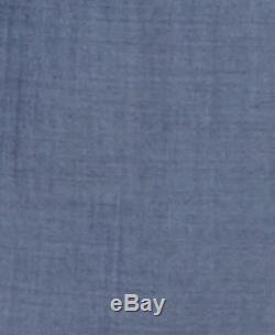 $1195 HUGO BOSS Mens Slim Fit Wool Blazer Blue Solid SUIT JACKET SPORT COAT 38R