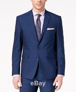 $1295 VINCE CAMUTO Men's Slim Fit Wool Suit Blue SOLID 2 PIECE JACKET PANTS 40R