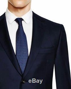 $1395 Z ZEGNA Midnight Blue Mohair Drop 8 Slim Fit Suit 42 R (52 Eu)