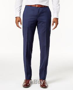 $1400 HUGO BOSS Slim Fit Wool Suit 2 PIECE Blue Check Super 100 JACKET PANTS 44R