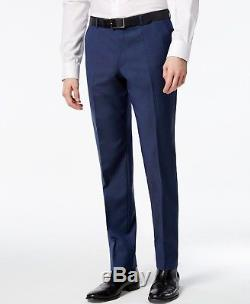 $1495 HUGO BOSS Mens Slim Fit Wool Suit Blue Texture 2 PIECE JACKET PANTS 40S