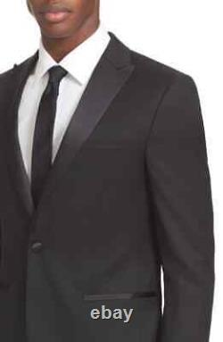 $1495 Z Zegna Trim Fit Slim Fit Men's Wool Tuxedo Black 2 PC Suit 8 50 C