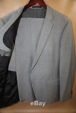 #154 HUGO BOSS Huge4/Genius3 Light Gray Suit Size 44 R SLIM FIT