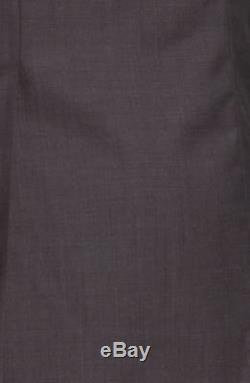 $1595 HUGO BOSS Mens Slim Fit Wool Suit Gray Solid 2 PIECE JACKET PANTS US 42S