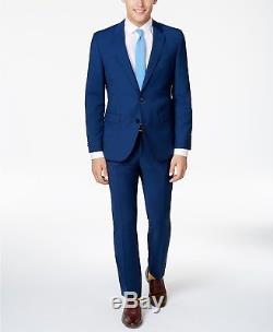 $1645 HUGO BOSS Men's SLIM Fit Wool BLUE 2 PIECE SUIT JACKET PANTS SIZE 40R