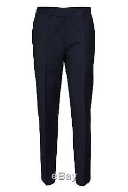 $1750 HUGO BOSS Men's SLIM FIT WOOL SUIT Blue Check 2 Piece JACKET PANTS 42R