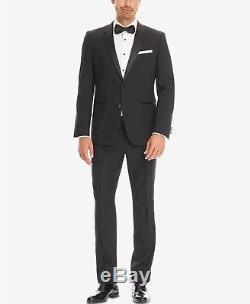 $1755 HUGO BOSS Men's SLIM FIT SUIT BLACK TUXEDO 2 PIECE JACKET PANTS 40R
