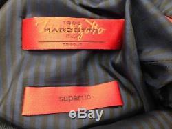 $1895 HUGO BOSS Mens Slim Fit Wool Suit Blue 2 PIECE BUTTON JACKET PANTS 38S