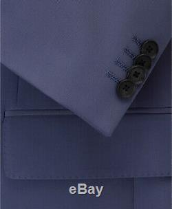 $1929 Hugo Boss Men 42R Slim Fit Blue Double Breasted 2 Piece Suit Jacket Pants