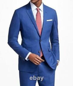 $1945 Z Zegna Men's Slim Fit Wool Sport Coat Blue Suit Jacket Blazer 38 R