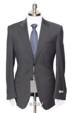 $1995 NWT CANALI 1934 Gun-Metal Gray Extrafine Wool Slim Fit 2Btn Suit 48 38 R