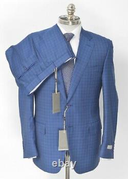 $1995 NWT CANALI Blue Gingham Wool Slim Fit 2 Btn Suit 40 R (EU 50) Drop 6