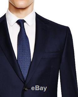 $1995 Z ZEGNA Mens Slim Fit Wool Sport Coat Navy Blue SUIT JACKET BLAZER 44 R