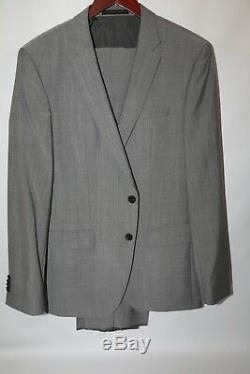 #201 HUGO BOSS Huge4/Genius3 Light Gray Suit Size 40 R SLIM FIT