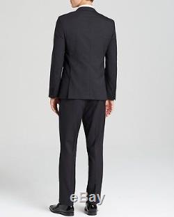 $2095 HUGO BOSS 2 Piece Slim Fit WOOL TUXEDO Navy Blue 1 Button JACKET PANTS 38R