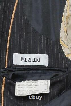 2280$ PAL ZILERI Blue Striped Wool Super 100'S Suit 38 US / 48 EU 8R Slim Fit