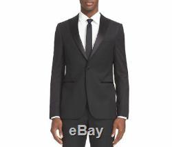 $2295 Z ZEGNA Men's SLIM Fit WOOL BLACK TUXEDO SUIT JACKET BLAZER US 38S EU 48S