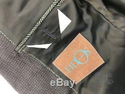 $2495 EIDOS Men BLUE SUIT JACKET SLIM-FIT COAT TROUSERS PANTS BLAZER US 38 EU 48