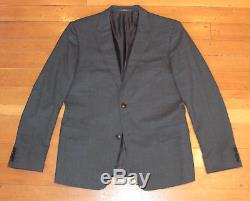 $2495 Gucci Gray Wool Slim Fit Suit IT 52 US 42R Flat Front Pants Made in Italy