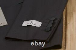2650$ CANALI Black Wool Water Resistant Tuxedo Suit 34 US / 44 EU 8R Slim Fit