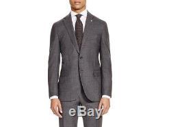 $2895 EIDOS Slim Fit Sport Coat WOOL BLAZER SUIT JACKET Gray Italy US 38 EU 48