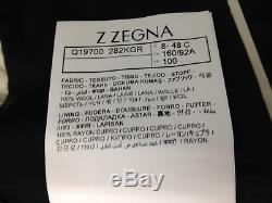 $2895 ERMENEGILDO Z ZEGNA Mens Slim Fit Wool Tuxedo Suit Black JACKET PANTS 38S