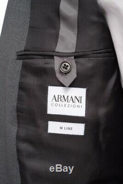 $2K NWT ARMANI COLLEZIONI M Line Extrafine Wool Slim-Fit Suit 54 fits 42 / 44 R