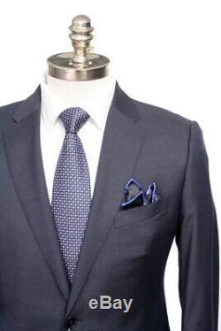 $2K NWT ARMANI COLLEZIONI M Line Navy Blue Birdseye Slim Suit 50 fits 40 / 38 R