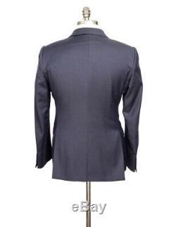 $2K NWT ARMANI COLLEZIONI M Line Navy Blue Birdseye Slim Suit 52 fits 42 / 40 R