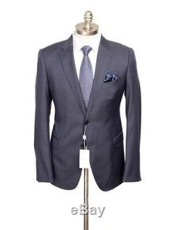 $2K NWT ARMANI COLLEZIONI M Line Navy Blue Birdseye Slim Suit 54 fits 42 / 44 R