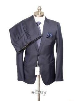 $2K NWT ARMANI COLLEZIONI M Line Navy Blue Birdseye Slim Suit 56 fits 44 / 43 R