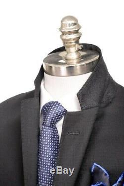 $2K NWT ARMANI COLLEZIONI M Line Solid Black Slim-Fit Suit 52 fits 42 / 40 R