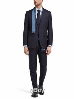 $3145 Z ZEGNA Men's SLIM Fit WOOL BLUE PINSTRIPE 2 PIECE SUIT JACKET PANTS 50R